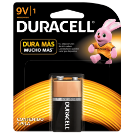 Pilas Alcalinas Duracell Plus Power 9V 6LP3146