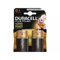 Pila Alcalina Duracell Plus Power D2 LR20 PACK-2