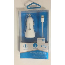 Cargador USB Coche Paide + cable Iphone