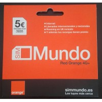 TARJETAS PREPAGO ORANGE MUNDO